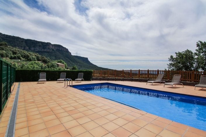 Vistes piscina Cal Cosme
